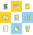 Communication icons set vector image vector image