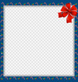 cute christmas or new year square border with vector image vector image