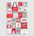 cute merry christmas advent calendar for holiday vector image vector image