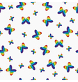 Cute pattern butterflies vector image