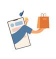 delivery boy apllication mobile app service vector image
