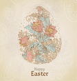 Easter vintage color background with egg vector image vector image