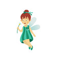 fairy cute girl isolated vector image vector image