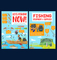 fishery equipment and supplies fisherman vector image vector image