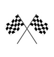 flag race checkered for start and finish vector image vector image