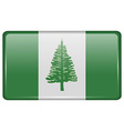 Flags Norfolk Island in the form of a magnet on vector image vector image