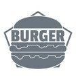 fresh burger logo simple gray style vector image