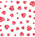 giftboxes with hearts shape pattern vector image