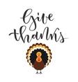 Give thanks greeting vector image