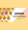 grand opening ceremony banner vector image vector image