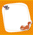 greeting card with cute fox greeting card with vector image vector image