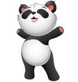 happy baby panda standing vector image vector image