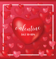 happy valentine day gift voucher coupon heart red vector image vector image