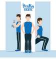 healthy habits exercise vector image