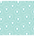Healthy teeth seamless pattern background vector image