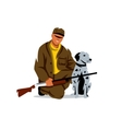 Hunting Hunter with dog Cartoon vector image vector image