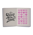 i love you forever Hand-lettering text Handmade vector image