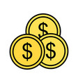 investment line filled icon vector image vector image