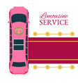 limousine service topview vector image vector image