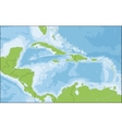 Map of Caribbean vector image vector image