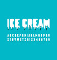 melting ice cream font vector image