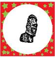 moai statues in the rano raraku volcano in easter vector image vector image