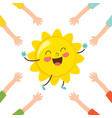 of cartoon sun vector image vector image