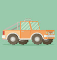 off road car isolated on color background flat vector image vector image