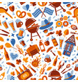 oktoberfest seamless surface pattern beer vector image