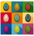 Ornamented eggs design vector image