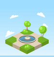 park isometric vector image vector image