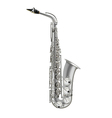 photorealistic saxophone isolated on a white vector image vector image