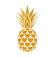 pineapple golden with hearts tropical gold exotic vector image vector image