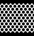 polka dot seamless pattern black background vector image