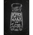Poster pepper castor chalk vector image