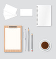 premium corporate identity template business vector image