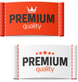 Premium quality clothing label vector image vector image