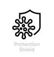 protection shield antivirus editable icon vector image
