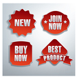 red web banners vector image vector image