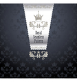 Royal seamless pattern with crown vector image vector image