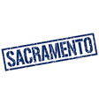Sacramento blue square stamp vector image vector image