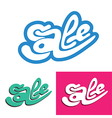 sale lettering vector image vector image