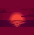 sea sunset summer landscape background vector image