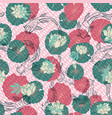 seamless pattern with hand drawn lineart vector image