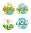 seasonal weather set landscapes vector image