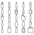 Set of plastic bottles and other containers vector image
