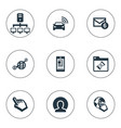 set of simple browser icons vector image vector image