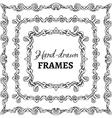 set of square vintage frames vector image