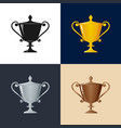 set of trophy cup of winners vector image