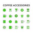 simple set colorful coffee related line icons vector image